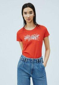 Pepe Jeans - Print T-shirt - mars rot - 0