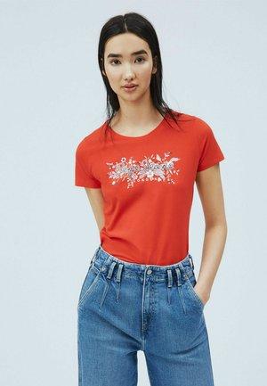 Print T-shirt - mars rot