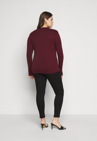 Tommy Hilfiger Curve - SLIM COSY - Long sleeved top - deep rouge - 2