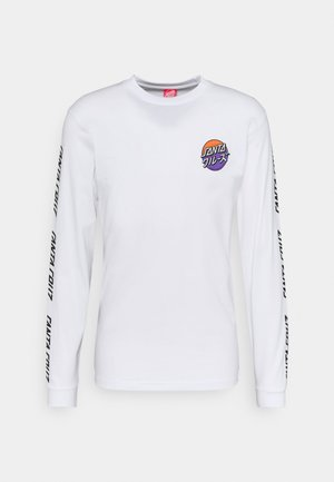 UNISEX MIXED UP DOT - Long sleeved top - white