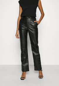 4th & Reckless - KAYDEN TROUSER - Trousers - black - 0