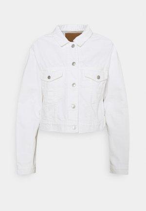 CLASSIC PUFF SLEEVE  - Denim jacket - white