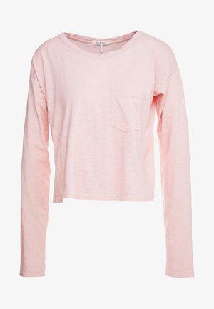 THE CROPPED - Topper langermet - pink rose