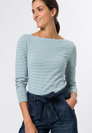 MIT STREIFEN - Long sleeved top - dusky blue