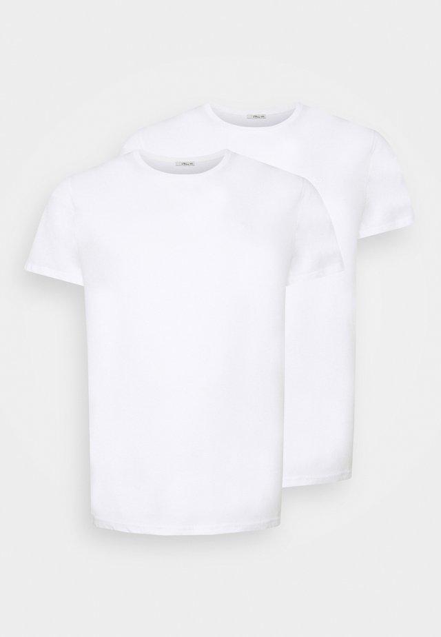 Jednoduché triko - white/ white