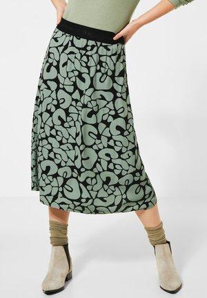 MIT MUSTER - A-line skirt - grün