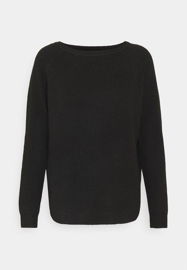 ONLELENA BOATNECK - Sweter - black