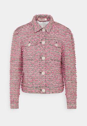 YOEL - Summer jacket - black/pink