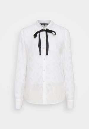 BANQUET READY BOW - Button-down blouse - ivory