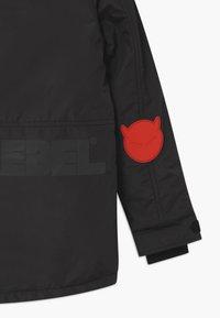 SuperRebel - SUSTAINABLE FASHION SPORTY PLAIN UNISEX - Snowboard jacket - black - 3