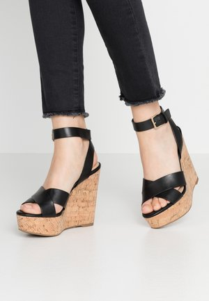 HELENA - High heeled sandals - black