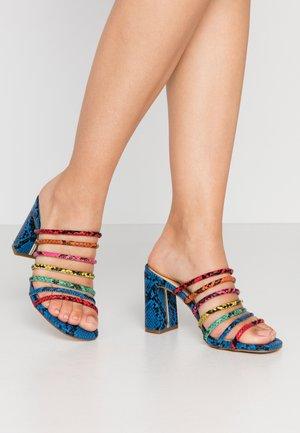 TRELIDDA - Heeled mules - bright multicolor