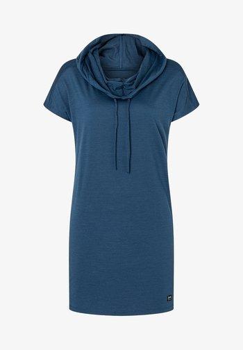 MERINO KLEID W FUNNEL DRESS - Jersey dress - dunkelblau
