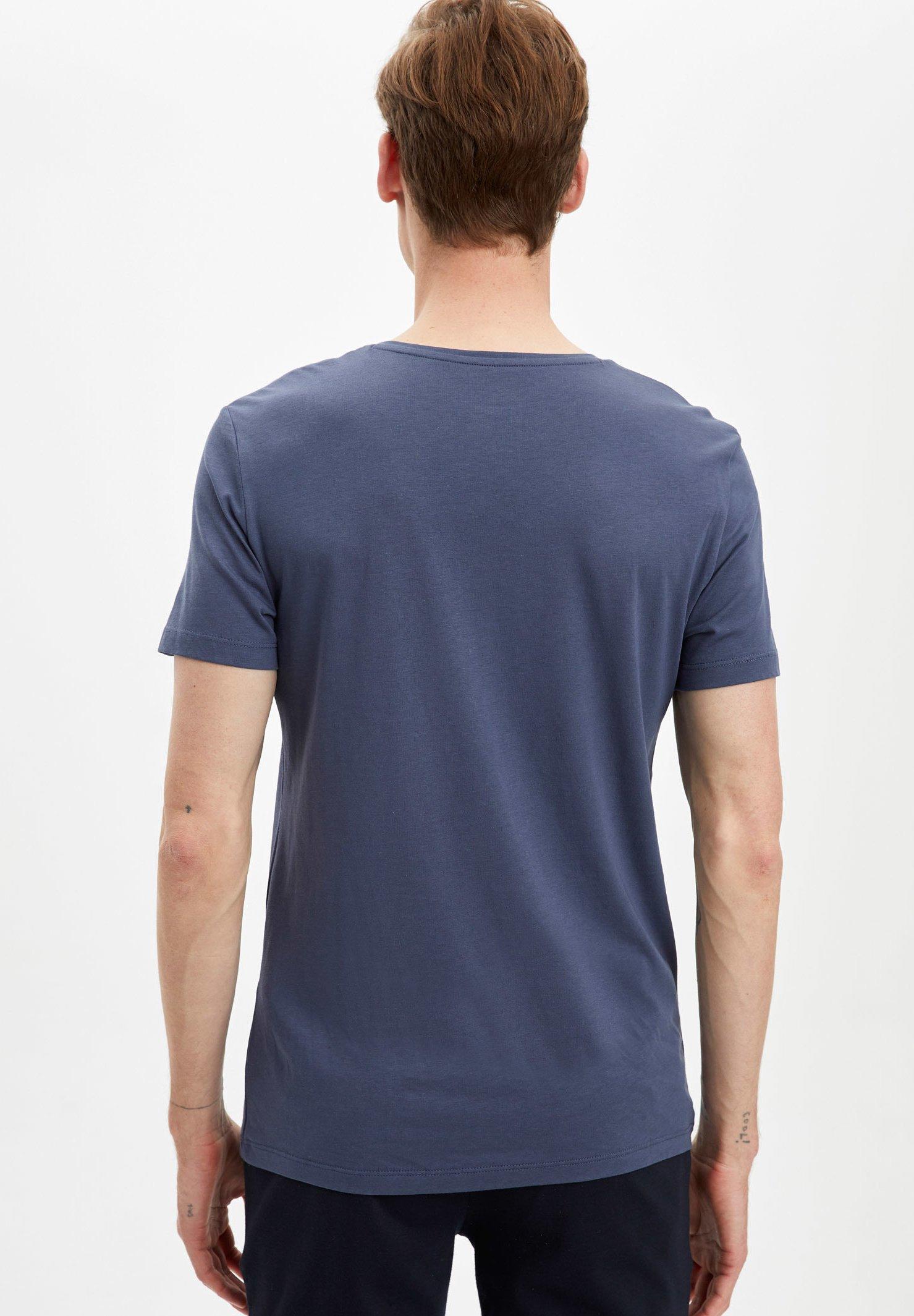 DeFacto Basic T-shirt - indigo hPhA3