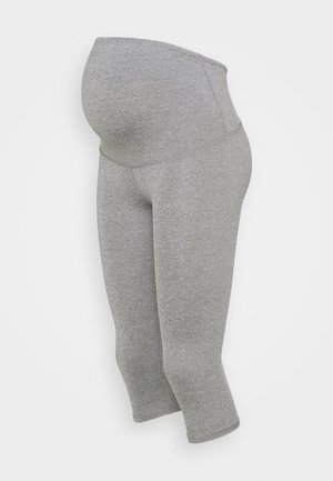 MATERNITY CORE CAPRI OVER BELLY - Legging - mid grey