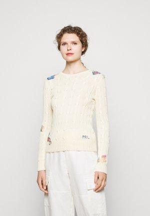 CLASSIC - Jumper - cream patchwork