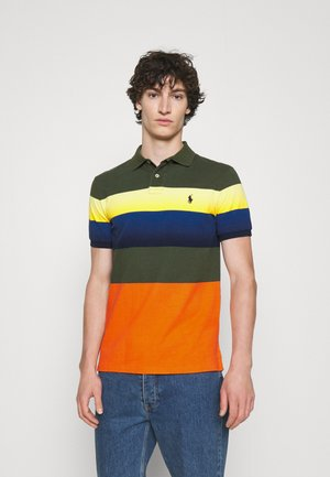 CUSTOM SLIM FIT MESH POLO SHIRT - Polo shirt - army multi