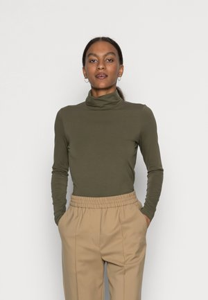 LONGSLEEVE ROLLNECK - Long sleeved top - dark khaki green