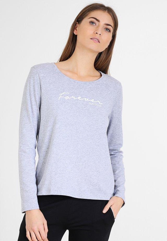 Pyjama top - grey melange