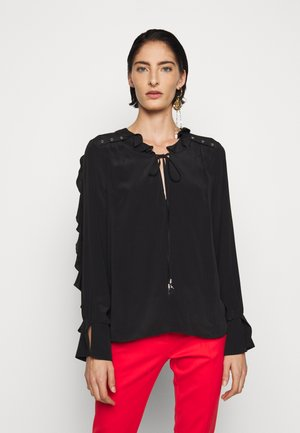NEW VOLANT - Bluse - nero