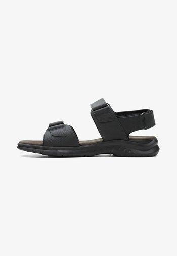 CREEK - Walking sandals - black leather