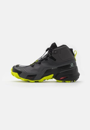 CROSS HIKE MID GTX - Hiking shoes - magnet/black/lime punch