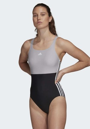 ADIDAS SH3.RO 3-STRIPES COLORBLOCK SWIMSUIT - Swimsuit - black