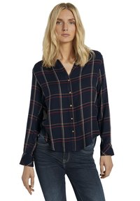 TOM TAILOR - Button-down blouse - navy grid check - 4