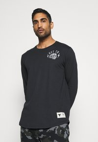 Under Armour - ROCK GET TO WORK  - Long sleeved top - black - 0