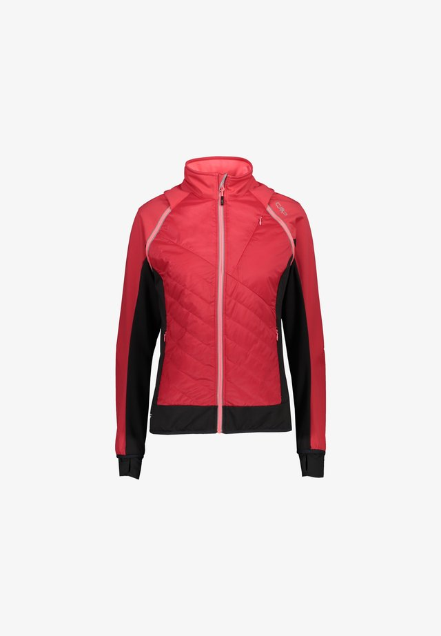 WOMAN JACKET WITH DETACHABLE SLEEVES - Giacca outdoor - fragola