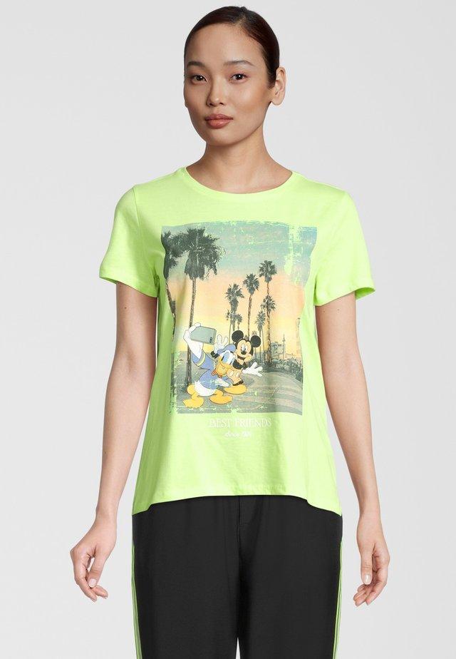 DONALD & MICKEY - T-shirt print - neon green