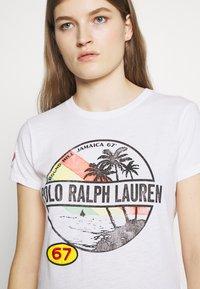 Polo Ralph Lauren - SHORT SLEEVE - Triko spotiskem - white - 5