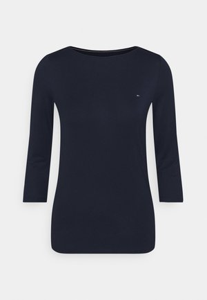 BOAT NECK TEE 3/4 - Topper langermet - blue