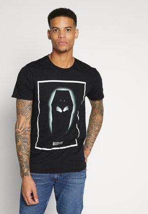MISFITS TEE - Print T-shirt - black