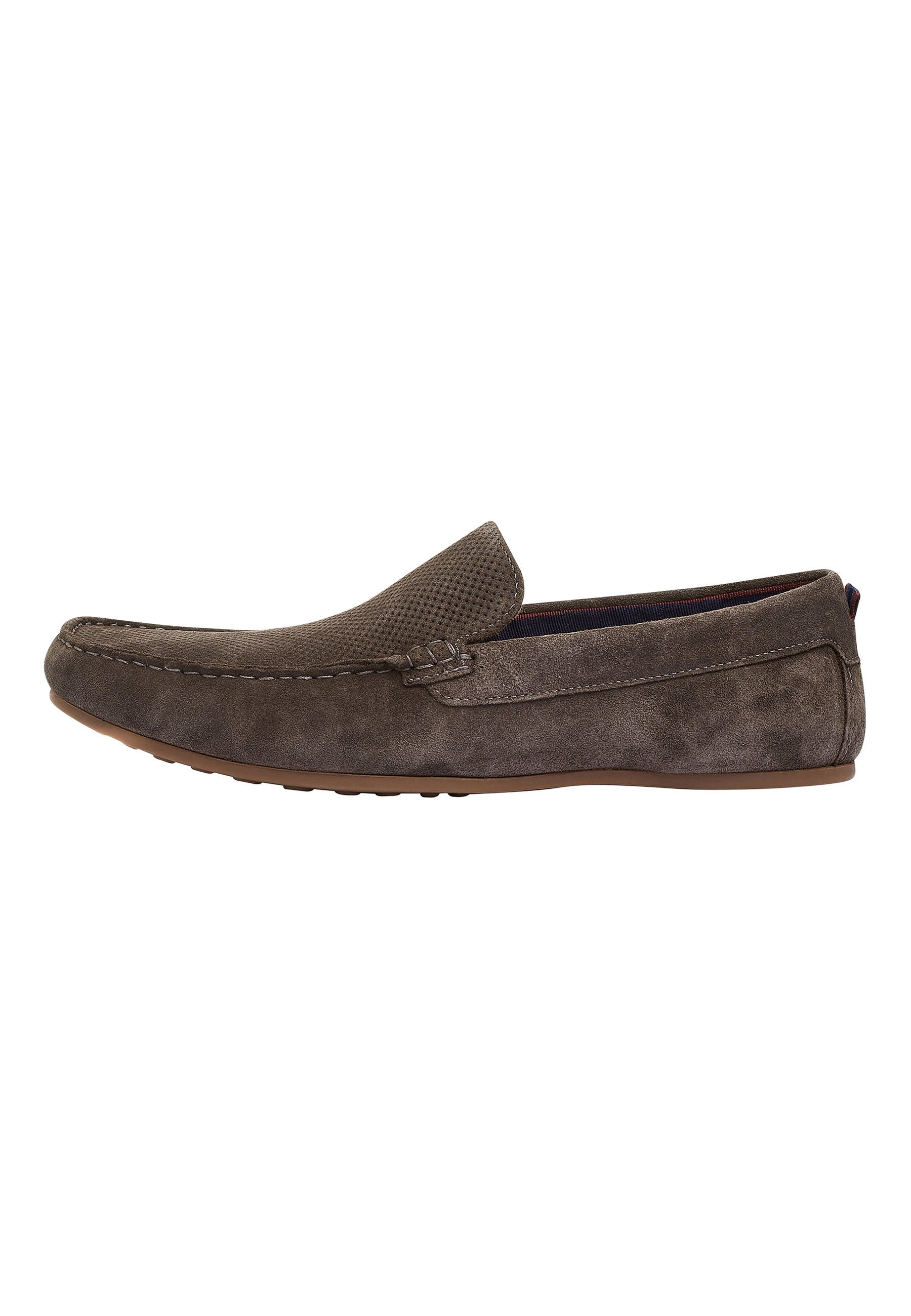 Homme TAN PERFORATED DRIVERS - Mocassins