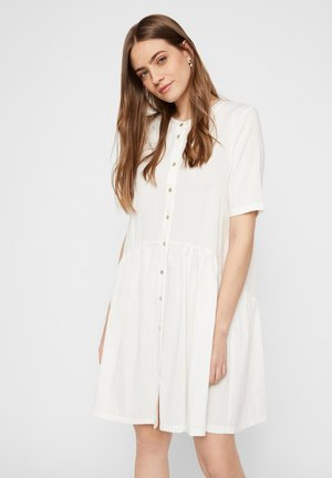 Shirt dress - cloud dancer