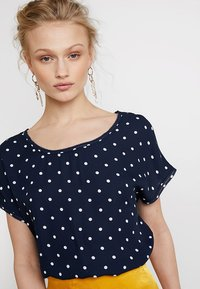 Banana Republic - PICOT TRIM BLOUSE - Blouse - navy - 4