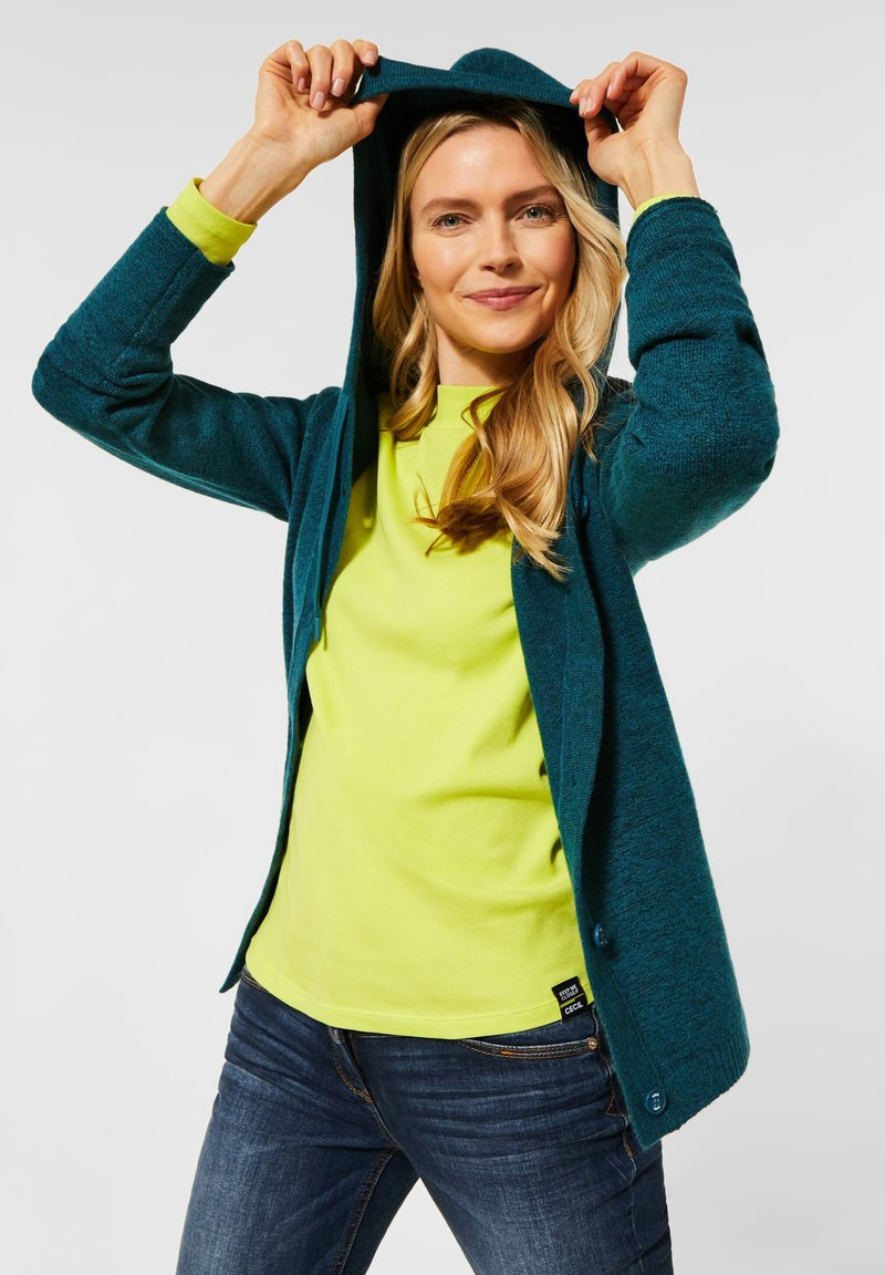 Cecil - FLEX  - Cardigan - atlantic green melange