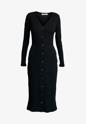 FRIDAY LONG SLEEVES BUTTON FRONT DRESS - Vestido informal - black