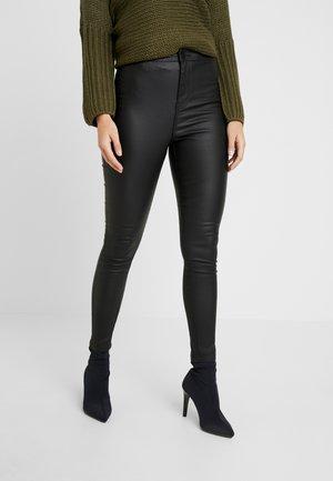 NMELLA SUPER COATED PANTS - Kalhoty - black