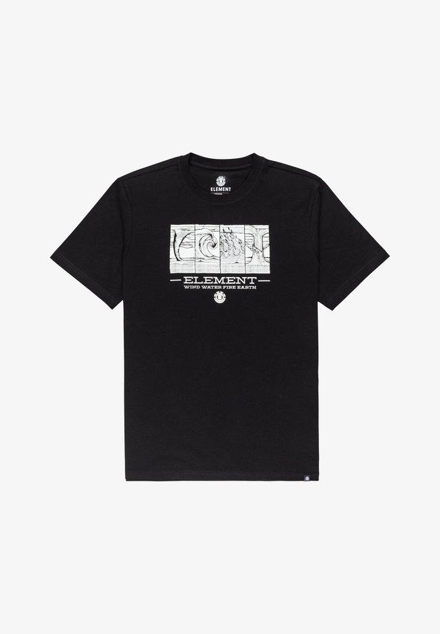 POWER TO THE PLANET WWFE - Print T-shirt - flint black