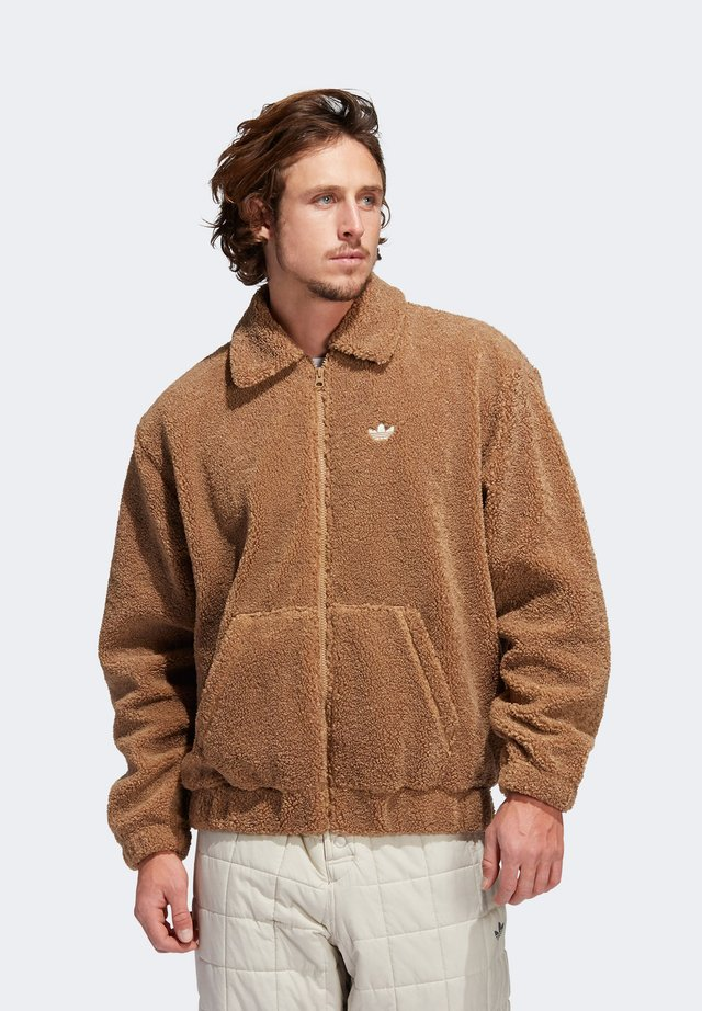 Fleece jacket - brown
