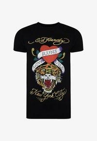 Ed Hardy - WILD-LOVE T-SHIRT - Print T-shirt - black - 2