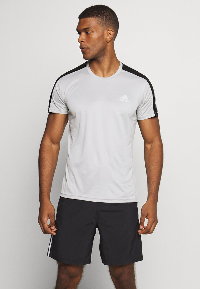 RESPONSE RUNNING SHORT SLEEVE TEE - Camiseta estampada - grey/silver