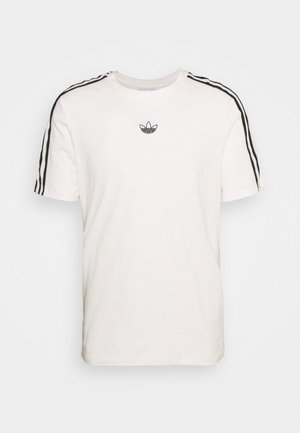 STRIPE UNISEX - Camiseta estampada - chalk white