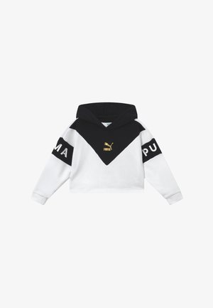 COLOR BLOCK HOODY - Luvtröja - white/black