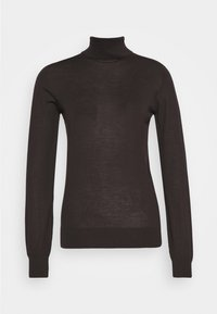Johnstons of Elgin - MARIA ROLL NECK - Jumper - dark chocolate - 0