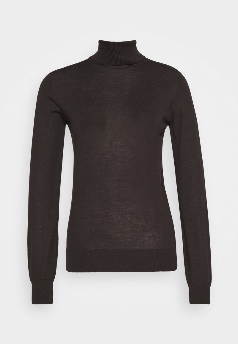 Johnstons of Elgin - MARIA ROLL NECK - Jumper - dark chocolate