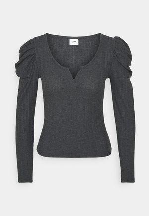 JDYANNA PUFF SLEEVE - Long sleeved top - dark grey melange