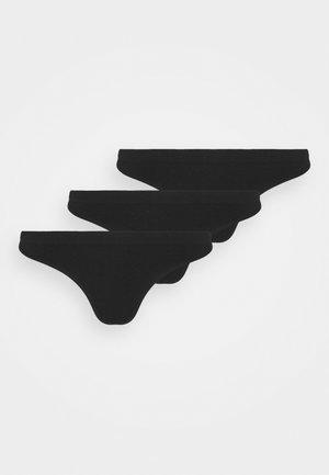 3 PACK - String - black